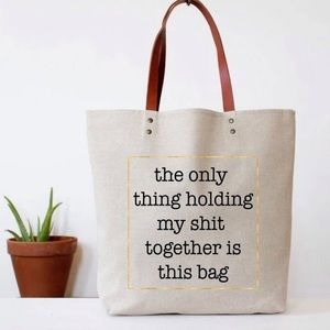 keeping my crap together tote